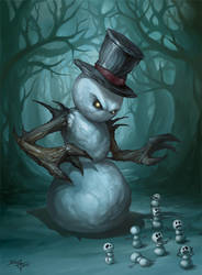 The Evil Snowman by Snugglestab