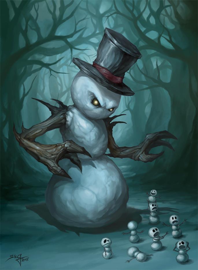The Evil Snowman by Zeeksie on DeviantArt