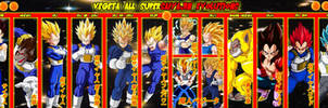 Vegeta All Supersaiyajin Evolutions