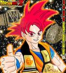 WWE World Heavyweight Champion Goku SSJ God