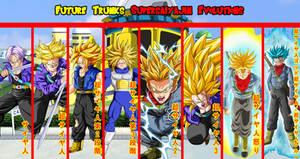 Future Trunks Supersaiyajin Evolutions by gonzalossj3