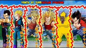 Vegeta GT Supersaiyajin Evolutions