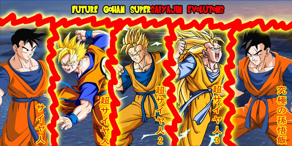 Future Gohan Supersaiyajin Evolutions by gonzalossj3 on