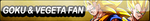 Goku and Vegeta Fan Button by gonzalossj3
