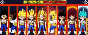 Kid Vegeta Supersaiyajin Evolutions