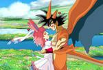 Mega Bardock-Charizard y Gine-Sylveon Gijinka by gonzalossj3