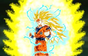 Raging Evolution Goku Super Saiyajin Rage 3 by gonzalossj3