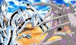 Blue-Eyes Ultimate Dragon vs SkullGreymon by gonzalossj3