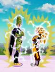 Goku Super Saiyajin 3 vs Super Perfect Cell