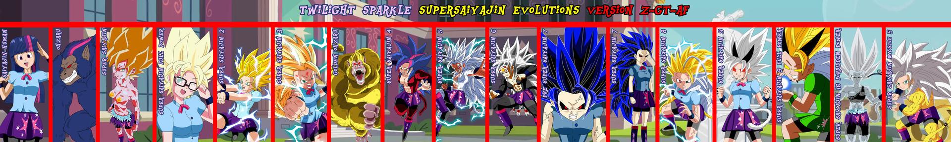Twilight Supersaiyajin Evolutions Version Z-GT-AF