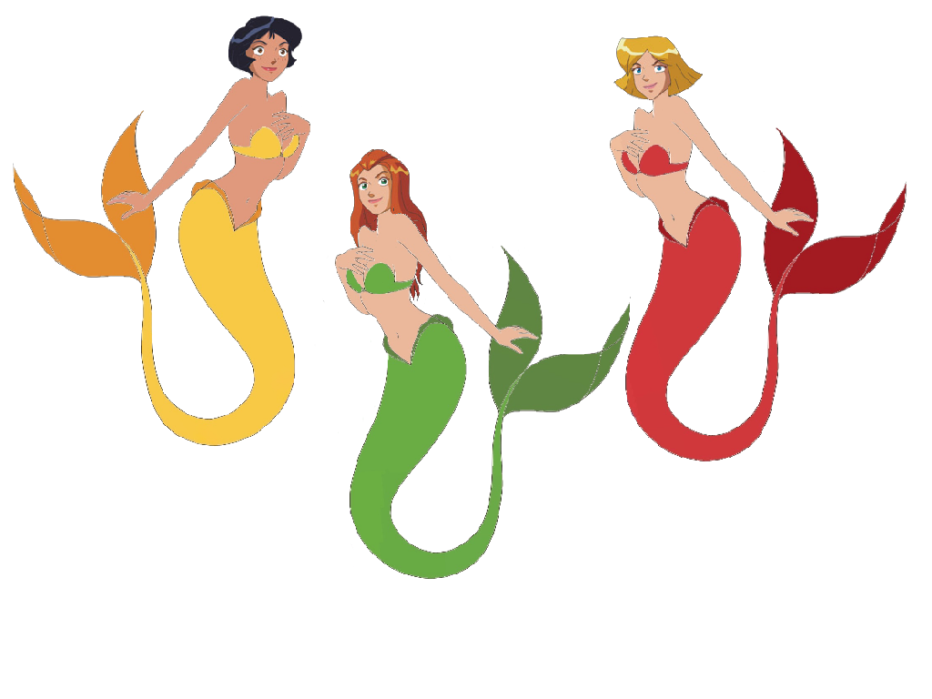 Totally Spies Converted In Mermaid By Crossovercomic On Deviantart