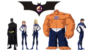The Fantastic Four meets Batman by Crossovercomic