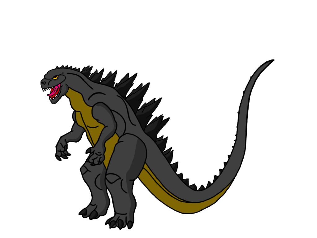 godzilla by crossovercomic on deviantart rh deviantart com gorilla clip art free godzilla clip art black and white