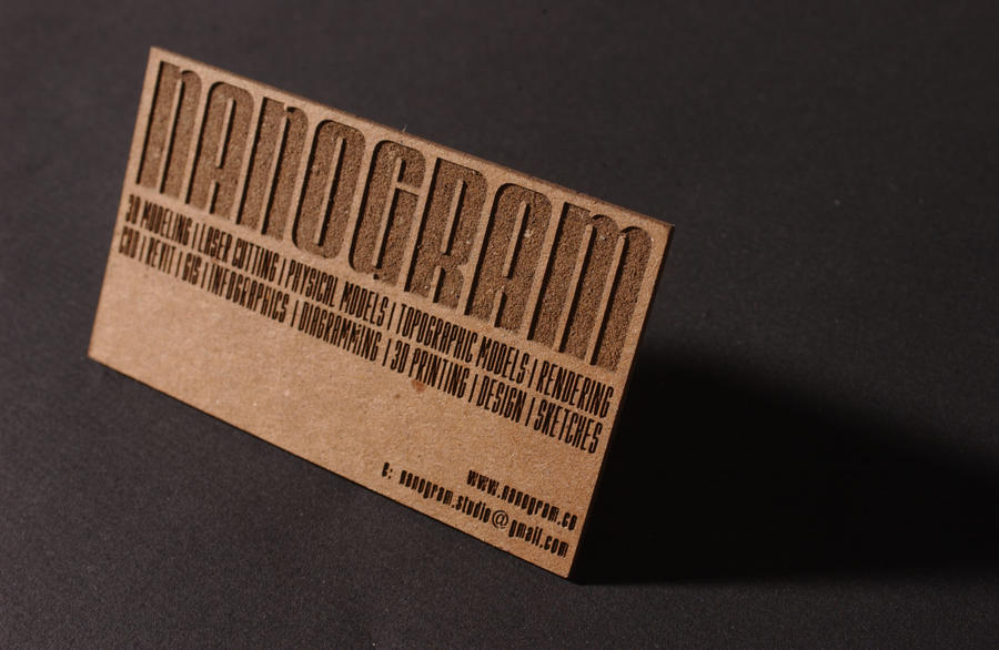 Chipboard business card for nanogram by nanogramstudio on chipboard business card for nanogram by nanogramstudio colourmoves