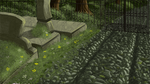 cemetery scene by axemsir