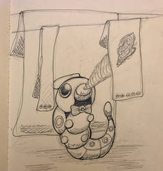 Pokemon cafe #10 Caterpie