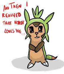 Poor Chespin :( by Cyan97