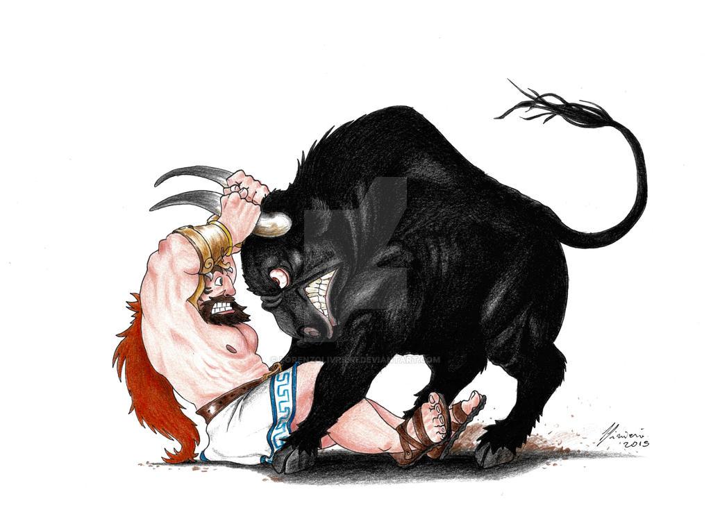 #7 The Cretan Bull - 12 Labours of Hercules by LorenzoLivrieri