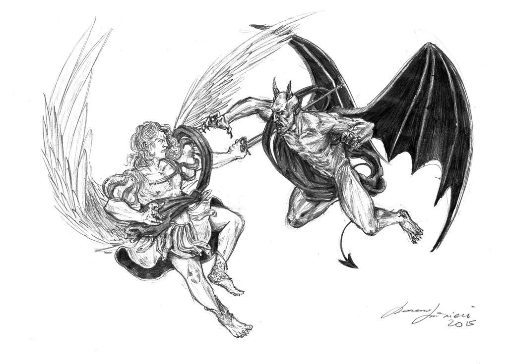 Saint Michael and Lucifer by LorenzoLivrieri on DeviantArt