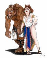 Aphrodite and Hephaestus - Gods of Olympus by LorenzoLivrieri
