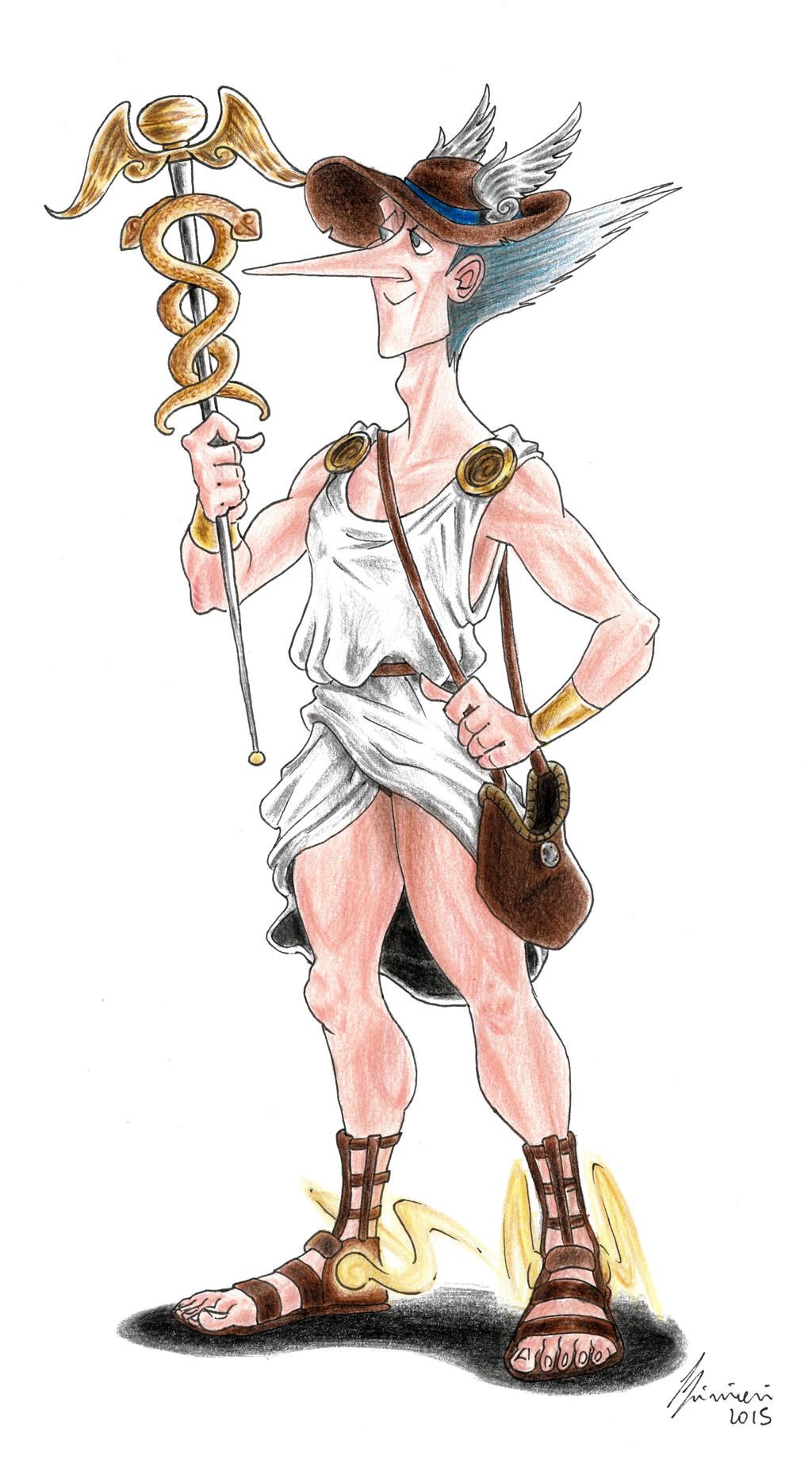 Hermes Gods Of Olympus By Lorenzolivrieri On Deviantart