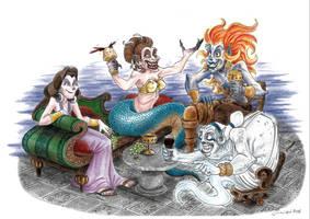 Convivium in the Underworld - Gods of Olympus by LorenzoLivrieri