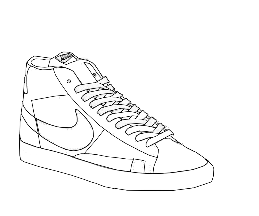 nike blazer digital sketch by mattisamazingps on deviantart