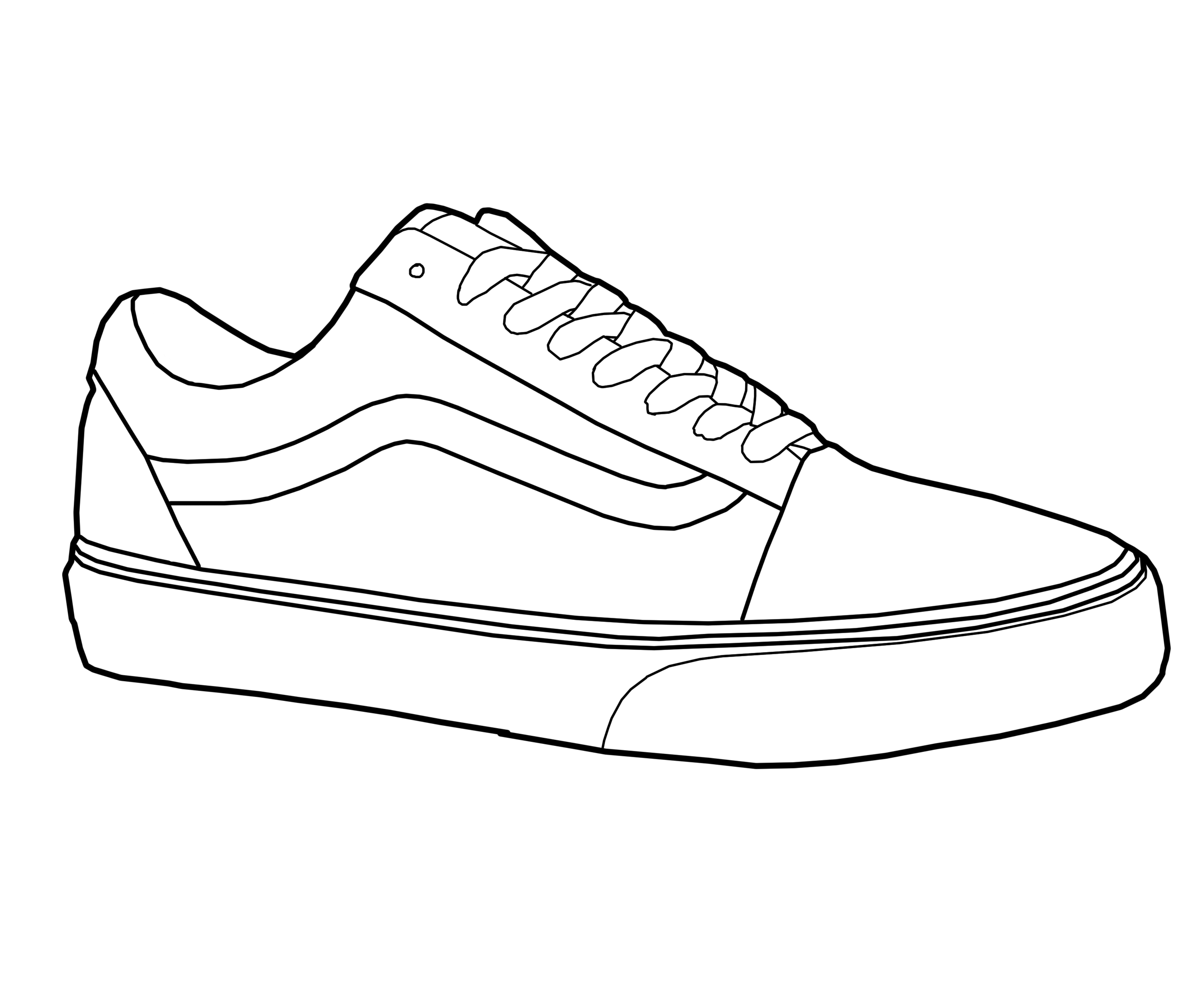 Line Drawing Shoes : Vans old skool shoe vector by mattisamazingps on deviantart