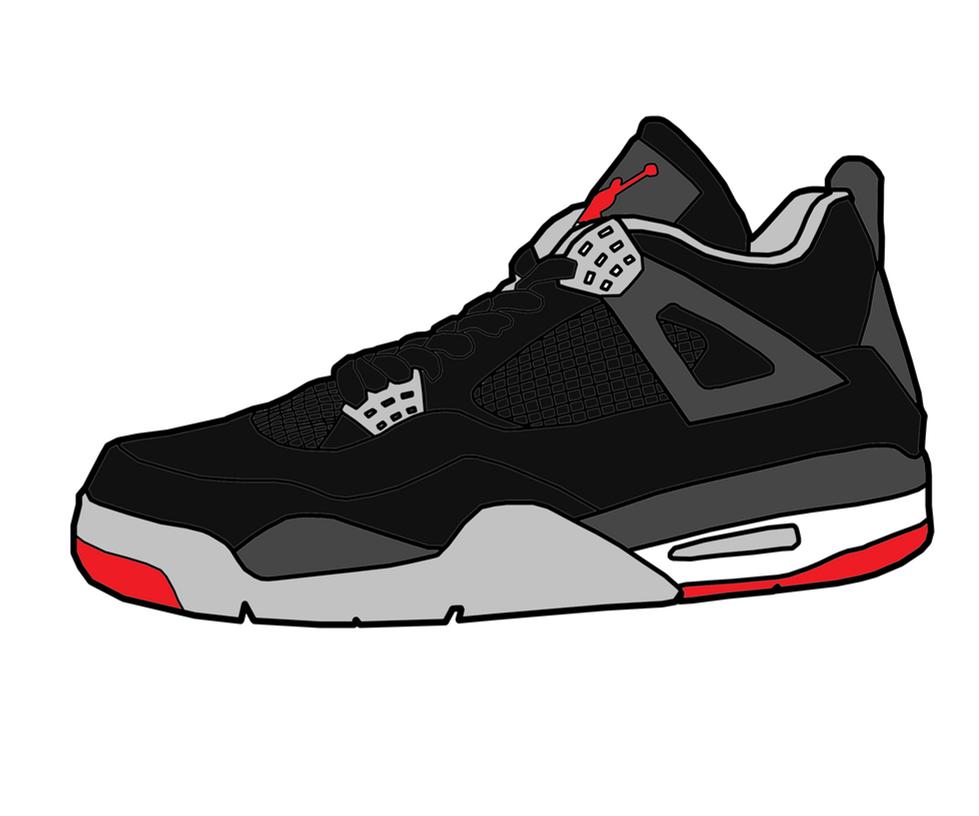 Jordan 4 'Bred' Sketch by MattisamazingPS on DeviantArt