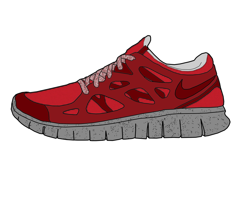 Nike Free Run NSW Suede Drawing by MattisamazingPS on