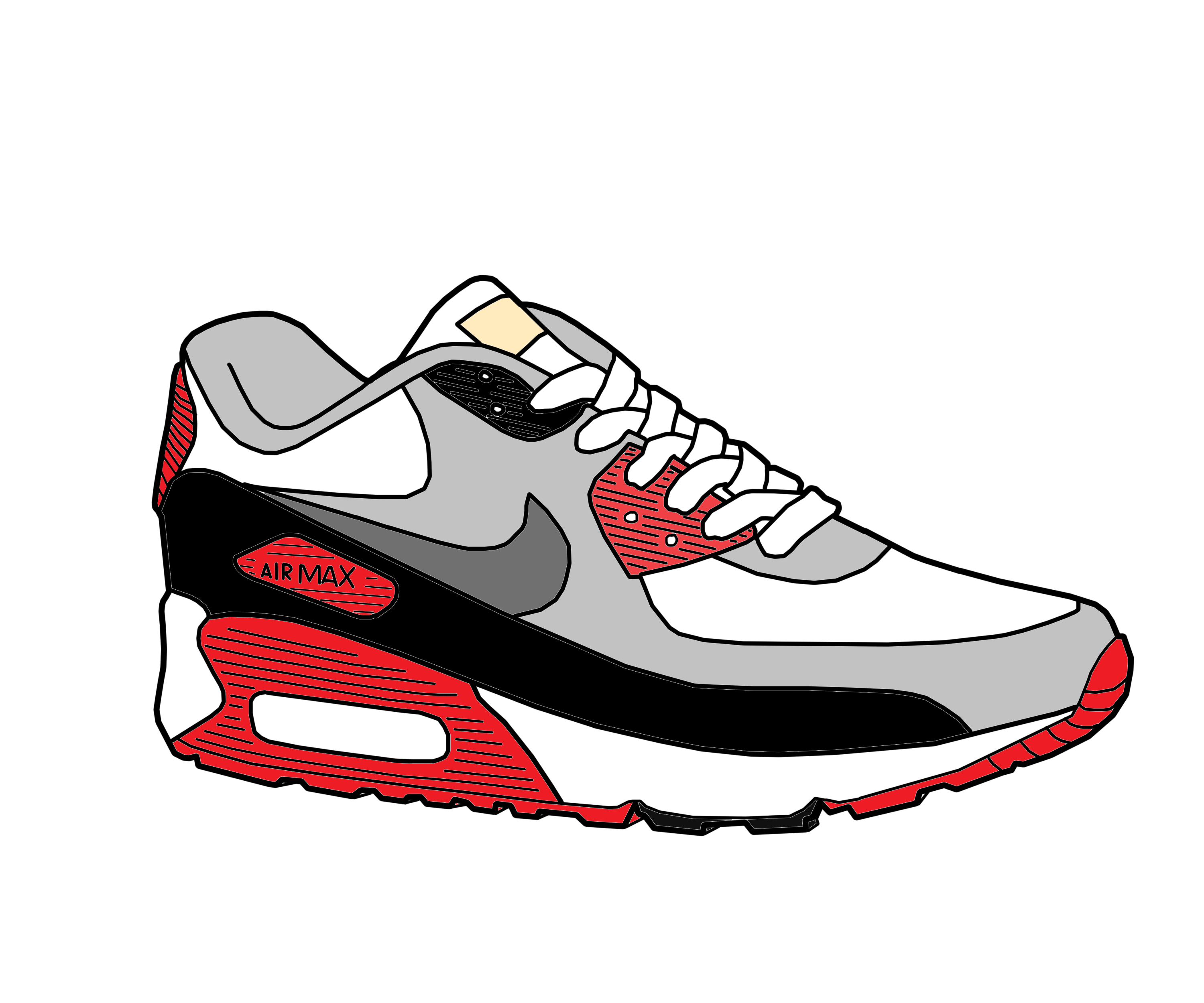 air max 90 drawing