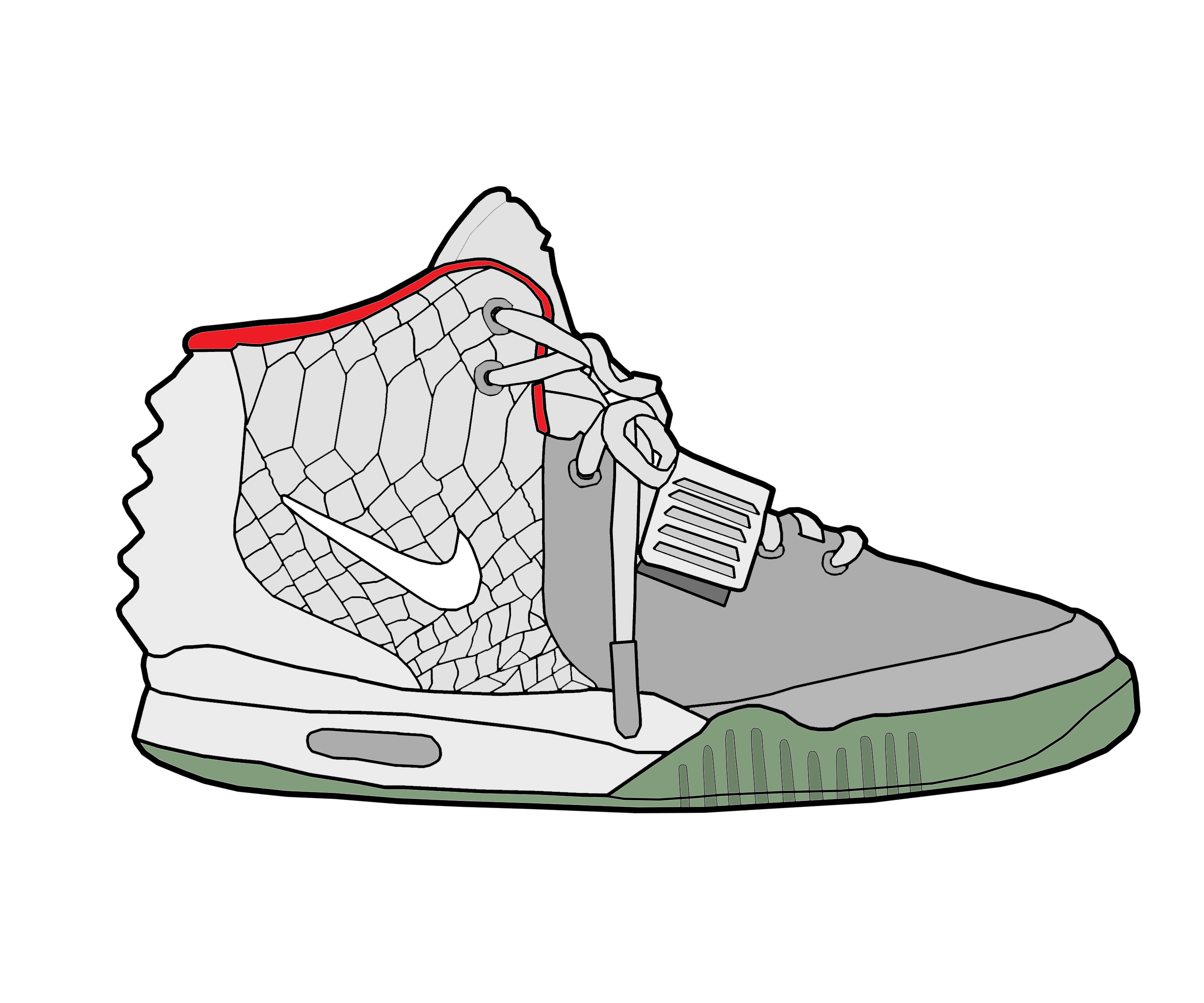 How To Draw Yeezy Boost 350 V2s - YouTube  Yeezy Drawing