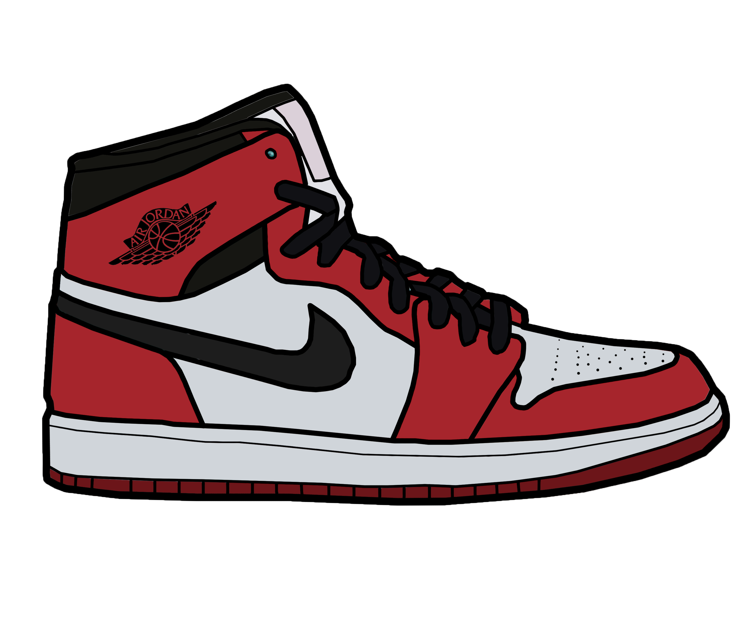 jordan and nike shoes drawing cartoon faces 859260