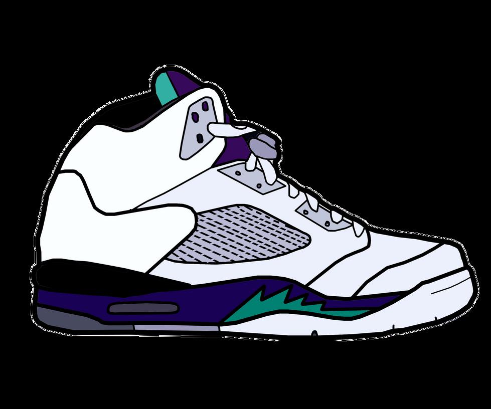 Jordan V 'Grape' Sketch by MattisamazingPS on DeviantArt