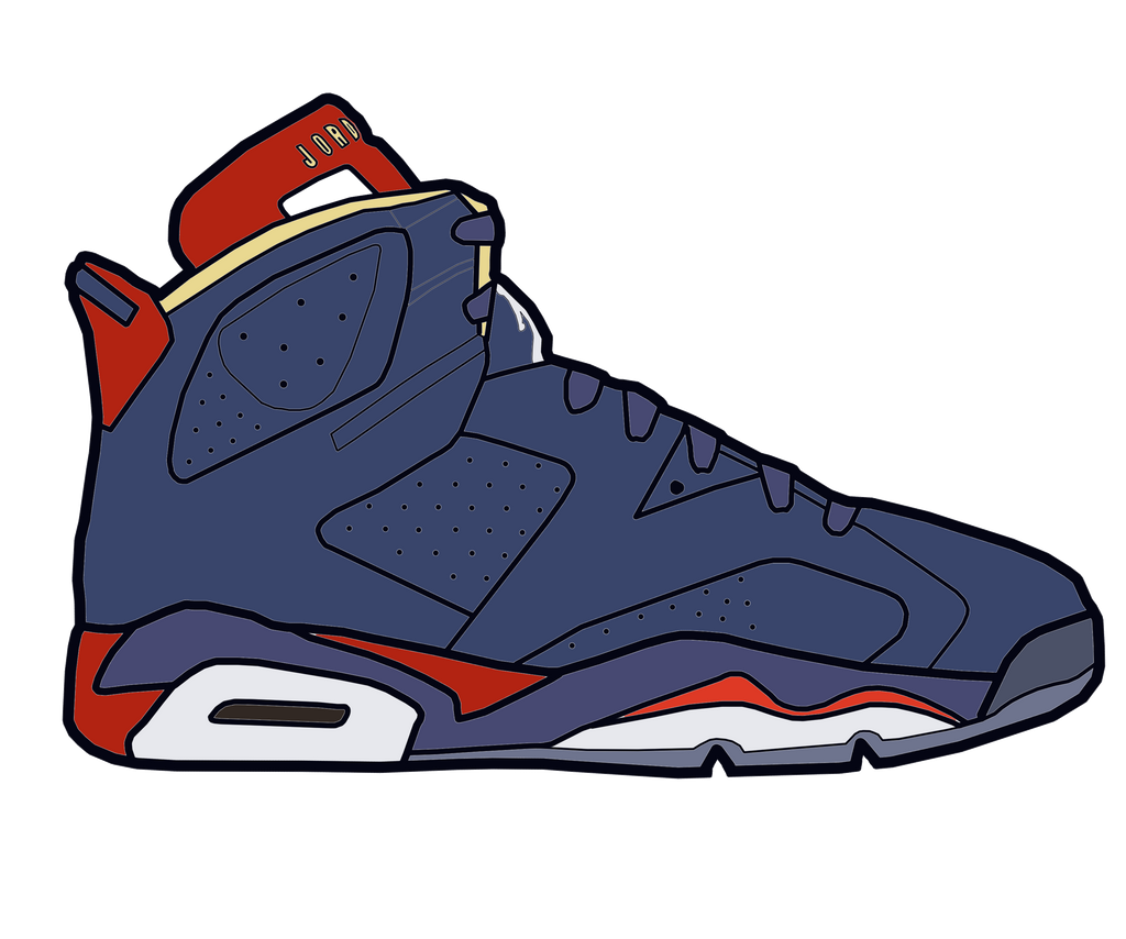 Cartoon Jordan Shoe Drawings