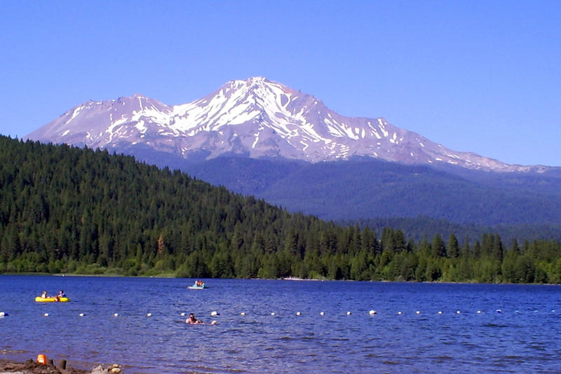 View of Mt. Shasta from Medicine Lake