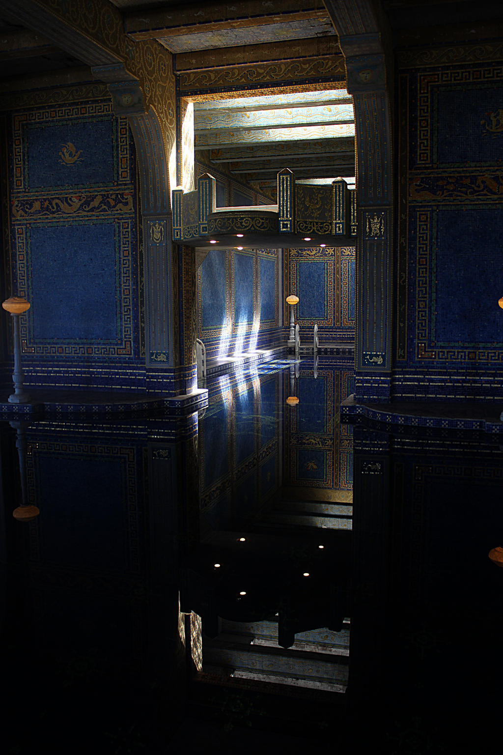 One of the indoor pools at Hearst Castle