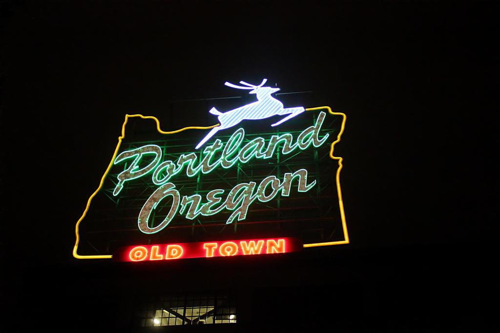 Portland's famous neon sign