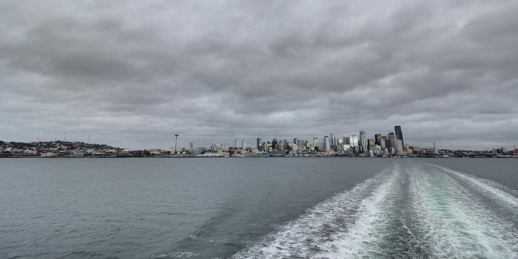 Seattle waterfront from the Bainbridge Island ferry