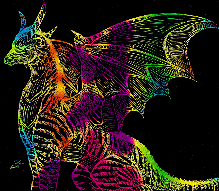 big rainbow dragon wallpaper - photo #3
