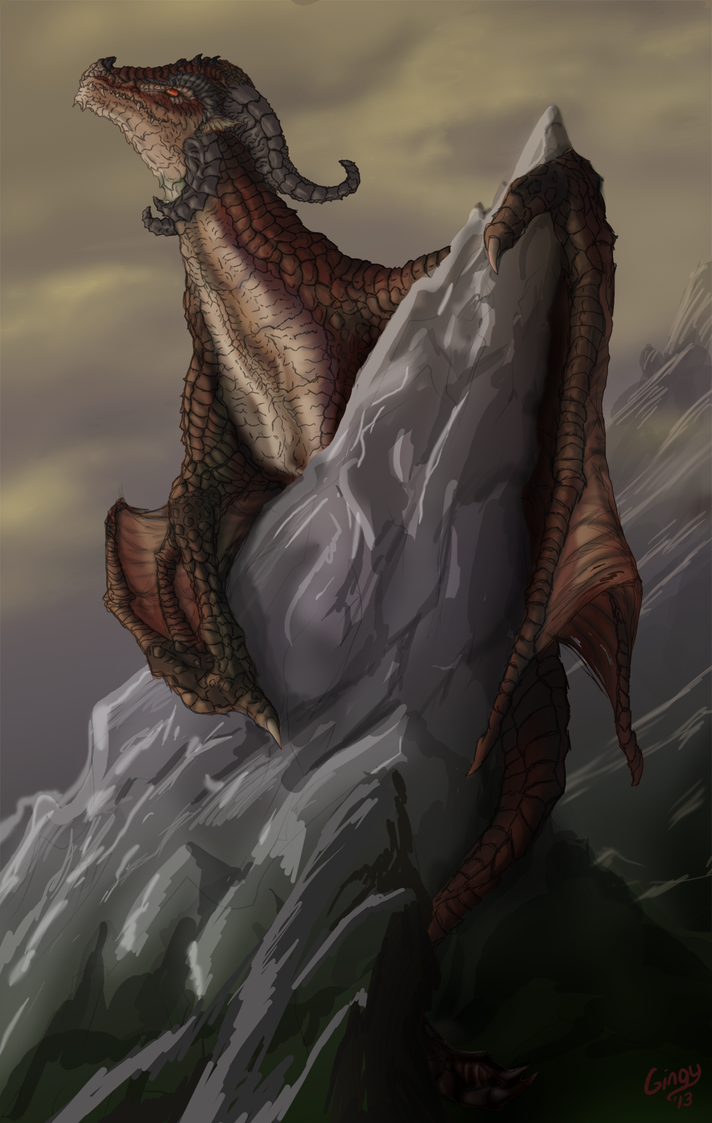 the red wyvern by gingy1380 on deviantart