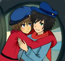 Fievel and Tony Human ver by Mesha-san