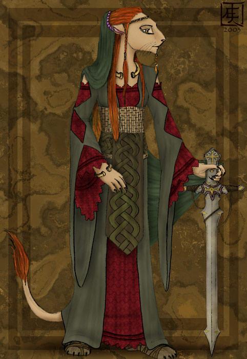 Leo gaelic by EvaMaya