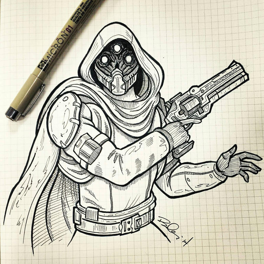 destiny characters hunter coloring pages - photo#22