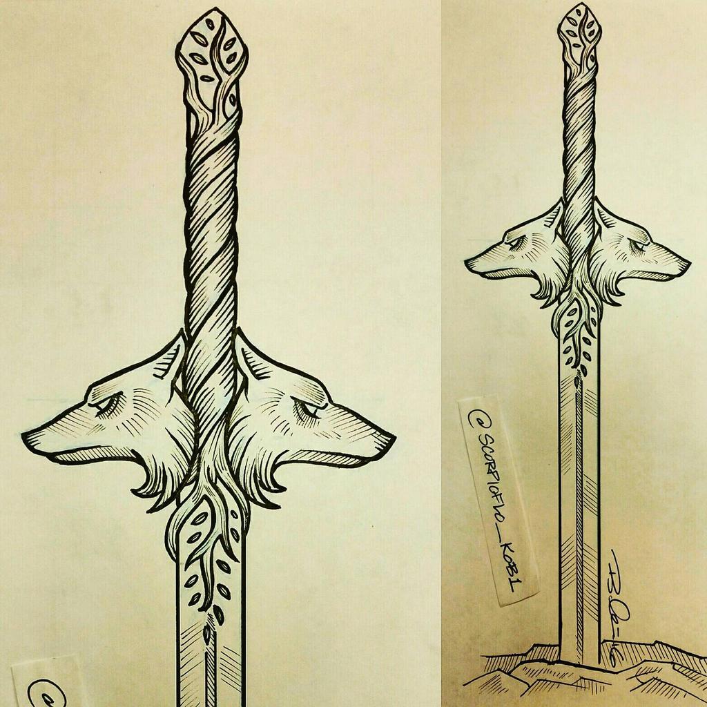 how to draw a sword digital