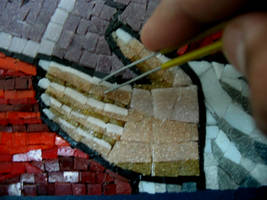 coptic icon mosaic-Moses(details) by MinaNashed