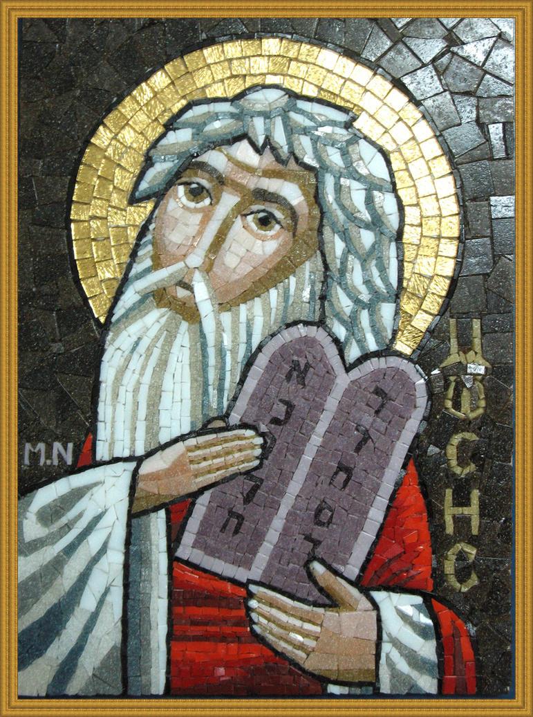 coptic icon mosaic-Moses. by MinaNashed