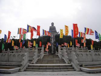 Tian Tan Buddha III by clayton-northcutt