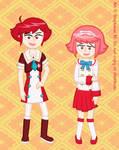 Hinoka and Sakura - School Style
