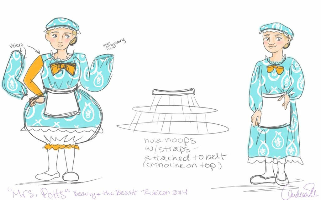 Mrs Potts Beauty and the Beast costume design by Andichan04 ...  sc 1 st  DeviantArt & Mrs Potts Beauty and the Beast costume design by Andichan04 on ...